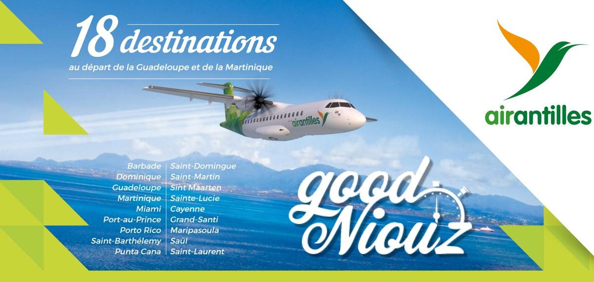 Accueil || AIR ANTILLES, Compagnie aérienne régionale